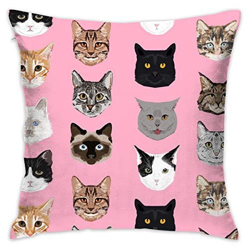 Katze Gesichter niedlichen Katzen süße Kätzchen Kitty niedlichen C Kissenbezug 18