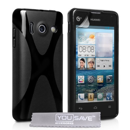 huawei-ascend-y300-cover-in-silicone-gel-motivo-x-line-colore-nero
