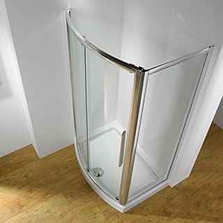 Bathroom Supastore Kudos Original Bowed Sliding Shower Enclosure 1500 x 700 with Concept 2 Shower Tray