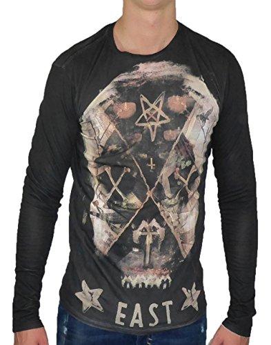 Religion Clothing Herren Longsleeve Liberty Skull Black Gr. M