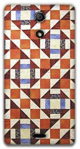 The Racoon Lean Modern Quilt hard plastic printed back case / cover for Sony Xperia ZR