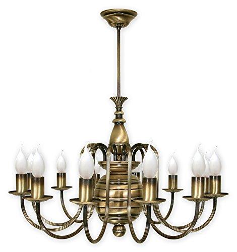 Pompöse Hängeleuchte Messing 1 E14 bis 60W 230V Stahl Wohnzimmer Esszimmer Lampe Leuchte...