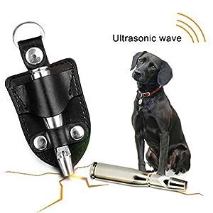 Couleur vous à ultrasons Sifflet de dressage pour chien cuivre Finition lisse Bullet forme pigeon Pet Sifflet avec clip ceinture