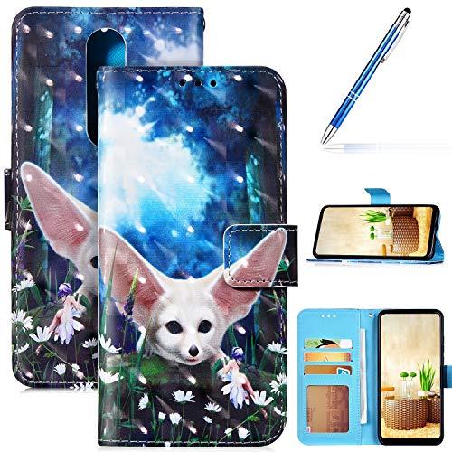 Robinsoni Custodia Compatibile con Nokia 5.1 Plus Case Portafoglio Nokia 5.1 Plus Cover Libro Case Pelle PU Antiurto Case Wallet Flip Caso Taccuino Cover Libretto Custodia 3D Cartone Case Foglio Cover