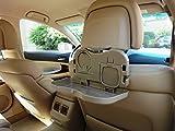 1x Tisch für Autorücksitz - KLAPPTISCH & MEHRZWECKTISCH - Spieltisch - Esstisch Ausklappbar für Getränke und Mahlzeiten im Auto - INION® (1x Rücksitztisch BEIGE)