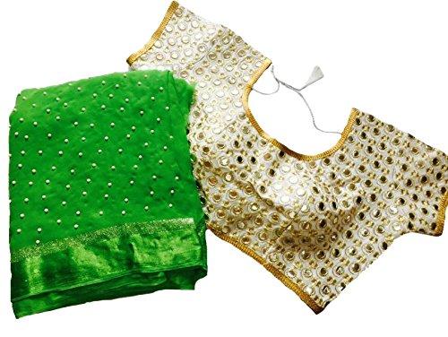 Balaji Fashion Brocade & Georgette Saree (D.No Dvs 5038_Multi-Coloured)