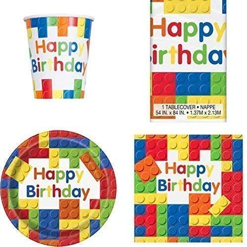 Bausteine Partygeschirr Pack für 8 (Lego-geburtstag-kuchen-dekorationen)