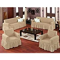 Hours Sofa Covers Set Turkey 4 Pieces Beige - 107770800020