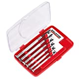KRT411002 Set Schlitz Präzisions Schraubendreher Feinmechanikwerkzeug Uhrmacherset Chrome-Vanadium-Stahl 6 Stück in Kunststoffbox
