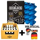 sl-Eisblock Bierkühler 0,33l Flaschen - Eis, Getränkekühler für Den Bierkasten, Kasten Made in Germany inkl. Deutschland Kopfstützenbezug für Das Auto