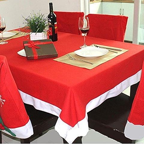 Clásico Mantel de Navidad Tire Franela Nuevo Diseño Rojo y Blanco Mantel De Navidad Fiestas Decoración Del Hogar (204/132)