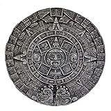 Steinfigur Azteken Kalender Relief Steinplatte Maya Steinguss Gartenfigur