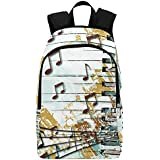 Interestprint Music Note Piano Casual Backpack College School Bag Travel Daypack