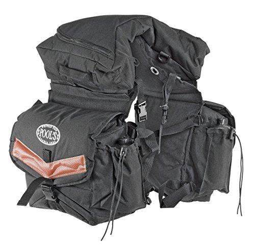 Satteltasche Rückseite aus Nylon gefüllt mit herausnehmbare Deckeltasche. Komplett-borracce. Umbria Reiten, Pferd, Pferde Dunkelbraun