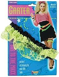 80's Neon Lace Garter. Green ** SALE **
