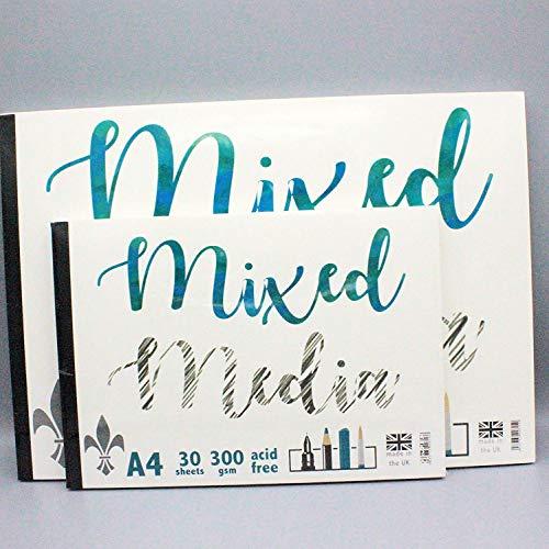 R K Burt Artists - Bloc de papel de dibujo (30 hojas, 300 g/m²) A3