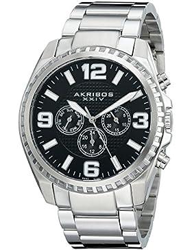 Akribos XXIV Herren-Armbanduhr Analog Quarz AK774SSB