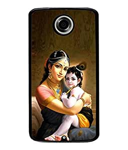 Fuson Designer Back Case Cover for Motorola Nexus 6 :: Motorola Nexus X :: Motorola Moto X Pro :: Google Nexus 6 (Kanhiya Lal Mother Love Basuri Mor Pankh Spiritual)