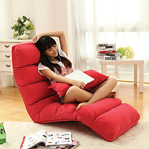 Liegestühle Amazing Kreative Freizeit-Einzel-Doppel-Liege Stuhl Foldaway Schlafsofa Lazy Sofa (Farbe optional) Indoor im Freien (Farbe : B) - Doppel-liege Stuhl
