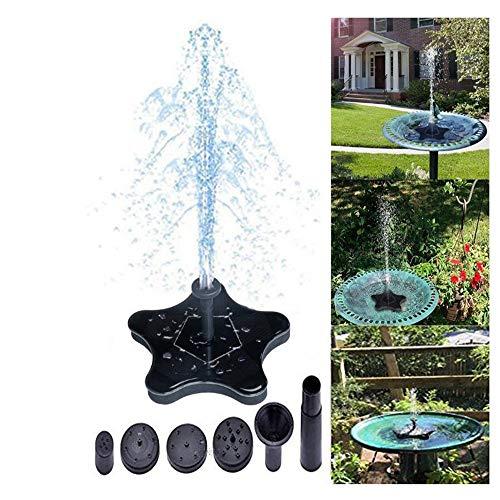 Lwgy pompa solare galleggiante per fontana, pompa sommergibile, senza alimentatore esterno, adatta per laghetto, giardino, vista acqua, vasca da bagno 1.4w pannello altezza 60 cm