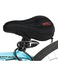 Gel Bike Sattel, Fahrrad bequem Sitzkissen Pad Bezug extra Komfort Gel Pad Kissenbezug geeignet für Mountain Bike Sitze und Road Bike Sattel schwarz