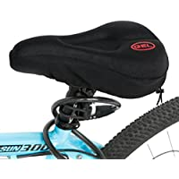 Funda para sillín de bicicleta, con cómoda almohadilla de gel, para bicicleta de carretera o montaña, color negro