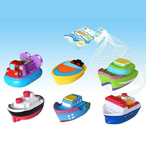 Arulinmz Geschenke für Ihre Babys 6 stücke Kleinkinder Kinder Badespielzeug Bad Spielzeug Schiff Kreuzfahrtschiff Dekoration
