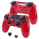 YoRHa SUPER Personnalisation Protecteur dur Housse de coque pour Sony PS4/slim/Pro manette (rouge)