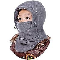 LFYPSM Gorros A Prueba De Viento para Niños De Invierno Protección para Los Oídos Fría Bufanda Bufanda para Cuello Mujer Invierno Ciclismo Cálido Parabrisas Sombrero De Lana,Grey