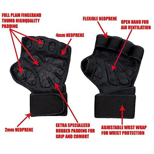 Crossfit Fitness Gym Handschuhe mit Handgelenk Unterstützung und unterstützt Palm Grip für schwere Gewicht heben, Fitness, Crossfit Training, für Männer und Frauen-fit4lyf3