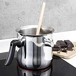 HI Milchtopf & Simmertopf (1,2 Liter) - Milchkochtopf doppelwandig, z.B. zum Milch erwärmen im Wasserbad Topf, Milchtopf Edelstahl, Wasserbad Schmelztopf, Edelstahltopf klein