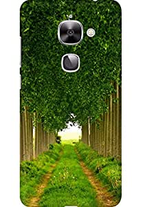 AMEZ designer printed 3d premium high quality back case cover for LeEco Le2 (Green leafage summer)