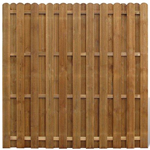 vidaxl legno fsc pannello di recinzione giardino hit & miss verticale recinto