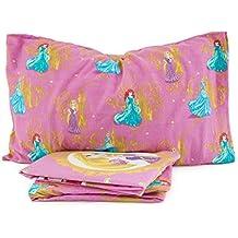 Juego completo cama individual Disney Princesas franela Encimera, menos con bajera y funda de almohada