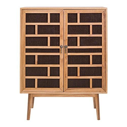 Mobili Rebecca® Schrank Buffetschrank 2 Türen Holz Braun Modern Wohnzimmer Haus (Cod. RE4805)
