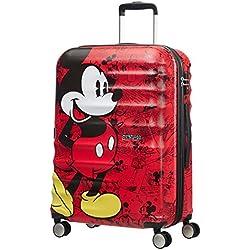 American Tourister Disney Wavebreaker, Spinner, M (67cm-64L), Multicolor (Mickey Comics Red)