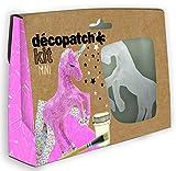 Décopatch KIT009O Bastel Set Pappmaché Einhorn (ideal für Kinder, 3,5 x 19 x 13,5 cm) rosa, bunt