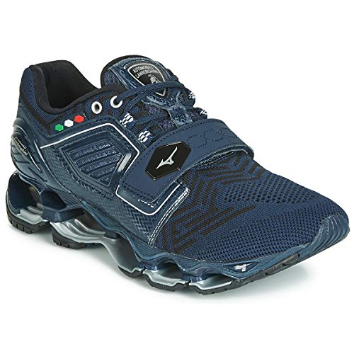 51AcLzxya4L. SS500  - Mizuno Wave TENJIN 5 Sports Shoes Men Blue Running Shoes