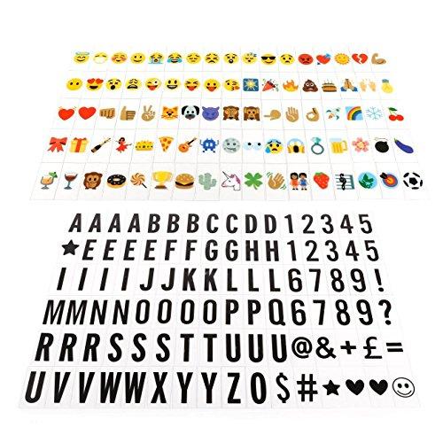 Foto de Caja de luz letras simbolos A4, JIM'S STORE 96 letras negras y 85 emojis colorido / símbolos para caja luz ideal für die Dekoration Ihres Hauses, Hochzeit, Geburtstage und andere besondere Ereignisse