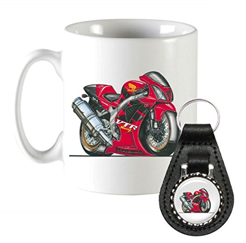 k1374-mk-koolart-gifts-cartoon-honda-vtr-1000-sp-1-motorcycle-coffee-mug-leather-keyring-gift-set