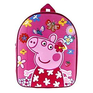 Peppa Pig – Mochila para niñas (diseño de Cerdos) Rosa Rosa Talla única