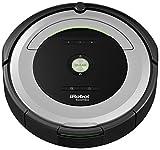 iRobot Roomba 680 Aspirateur Robot, système de nettoyage puissant avec Dirt Detect, aspire tapis, moquettes et sols durs, idéal pour les poils d'animaux, nettoyage sur programmation, argent