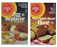 Egg Replacer & Starch Flour, Pack of 2: ENER-G FOODS Egg Replacer 16 Oz & Potato Starch Flour 16oz (1 of each)