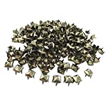Baoblaze 300 Piezas Roblones Stud Rivets Fabricar Estuche de Teléfono Gótico Cuero Personalizado - Negro
