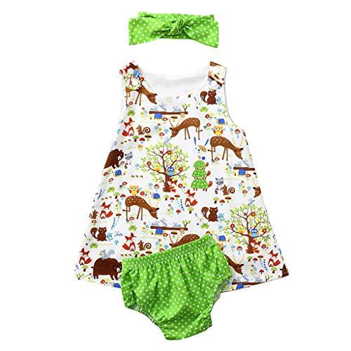 YWLINK Verano Conjunto Vestido De Bebé De Dibujos