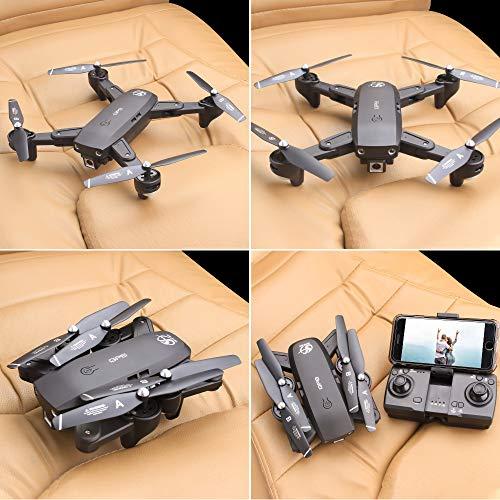 Mobiliarbus RC Quadcopter CSJ S166GPS Drone con Telecamera 1080P Seguimi Ritorno Automatico Home WiFi FPV Foto di gesta Video Live RC Quadricottero per Adulti