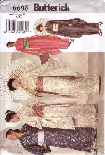 Butterick Schnittmuster 6698Erwachsene Kimono, Obi & Band (Butterick Patterns Kostüm)
