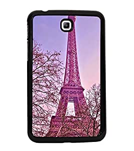 Fuson Premium 2D Back Case Cover Eiffel tower With Black Background Degined For Samsung Galaxy Tab 3 T211 P3200