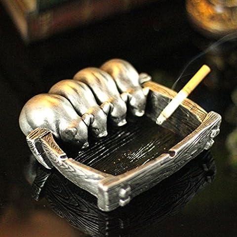 Ceniceros cigarro cilindros artículos para el ho Práctica de Creative Craft Cenicero de cumpleaños personalizada regalo regalos ( Edición : A )