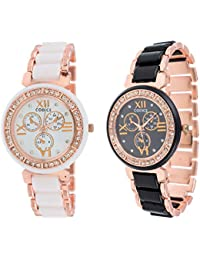 Codice Analogue White, Black Dial Women's & Girl's Combo Of 2 Watch